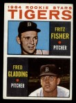 1964 Topps #312  Tigers Rookies  -  Fritz Fisher / Fred Gladding Front Thumbnail