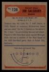1955 Bowman #128   Jim Salsbury Back Thumbnail