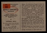 1954 Bowman #33   Hal Giancanelli Back Thumbnail