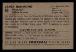1952 Bowman Small #69  James Hammond  Back Thumbnail