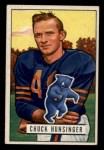 1951 Bowman #123   Chuck Hunsinger Front Thumbnail