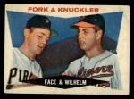 1960 Topps #115  Fork & Knuckler  -  Roy Face / Hoyt Wilhelm Front Thumbnail