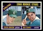 1966 Topps #588  Athletics Rookies  -  Chuck Dobson / Ken Suarez Front Thumbnail