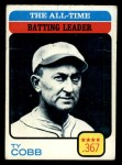 1973 Topps #475   -  Ty Cobb All-Time Batting Leader Front Thumbnail