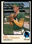 1973 Topps #60   Ken Holtzman Front Thumbnail