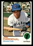 1973 Topps #393   Jose Cardenal Front Thumbnail