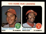 1973 Topps #62  1972 Home Run Leaders  -  Johnny Bench / Dick Allen Front Thumbnail