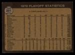 1973 Topps #201  1972 AL Playoffs - Hendrick Scores Winning Run  -  George Hendrick / Bill Freehan Back Thumbnail