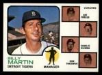 1973 Topps #323  Tigers Field Leaders  -  Billy Martin / Art Fowler / Joe Schultz / Charlie Silvera / Dick Tracewski Front Thumbnail