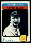 1973 Topps #477  All-Time Victory Leader  -  Cy Young Front Thumbnail