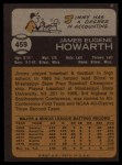 1973 Topps #459   Jimmy Howarth Back Thumbnail