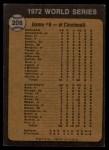 1973 Topps #208  1972 World Series - Game #6 - Reds' Slugging Ties Series  -  Johnny Bench / Denis Menke / Bobby Tolan Back Thumbnail
