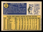 1970 Topps #380   Tony Perez Back Thumbnail