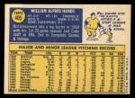 1970 Topps #405   Bill Hands Back Thumbnail