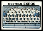 1973 Topps #576  Expos Team  Front Thumbnail