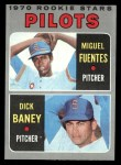 1970 Topps #88  Pilots Rookie Stars  -  Dick Baney / Miguel Fuentes Front Thumbnail