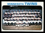 1973 Topps #654   Twins Team Front Thumbnail