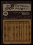 1973 Topps #598   Phil Roof Back Thumbnail