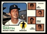 1973 Topps #323  Tigers Leaders  -  Billy Martin / Art Fowler / Joe Schultz / Charlie Silvera / Dick Tracewski Front Thumbnail