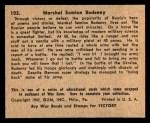1941 Gum Inc. War Gum #102   Marshal S. Budenny  Back Thumbnail