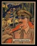 1941 Gum Inc. War Gum #131   Australia's General Rowell Front Thumbnail