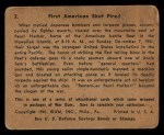 1941 Gum Inc. War Gum #2  First American Shot Fired  Back Thumbnail
