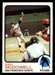 1973 Topps #511  Sam McDowell  Front Thumbnail