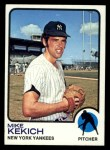 1973 Topps #371   Mike Kekich Front Thumbnail