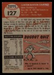 1953 Topps #127   Clint Courtney Back Thumbnail