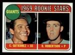 1969 Topps #16  Giants Rookies  -  Cesar Guitierrez / Rich Robertson Front Thumbnail