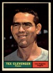 1961 Topps #291   Tex Clevenger Front Thumbnail