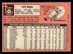 1969 Topps #155   Pete Ward Back Thumbnail