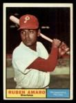 1961 Topps #103  Ruben Amaro  Front Thumbnail