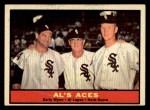1961 Topps #337  Al's Aces  -  Al Lopez / Herb Score / Early Wynn Front Thumbnail