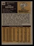1971 Topps #100  John Brodie  Back Thumbnail