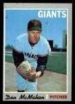 1970 Topps #519  Don McMahon  Front Thumbnail