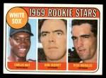 1969 Topps #654  White Sox Rookies    -  Carlos May / Rich Morales / Don Secrist Front Thumbnail