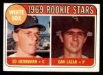 1969 Topps #439  White Sox Rookies  -  Ed Herrmann / Dan Lazar Front Thumbnail