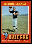 1971 Topps #39  George Blanda  Front Thumbnail