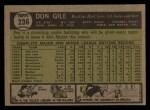 1961 Topps #236  Don Gile  Back Thumbnail