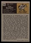 1971 Topps #153   John Elliott Back Thumbnail
