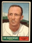1961 Topps #163   Ed Sadowski Front Thumbnail