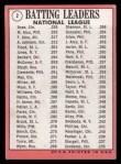 1969 Topps #2  1968 NL Batting Leaders  -  Pete Rose / Matty Alou / Felipe Alou Back Thumbnail