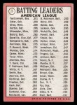 1969 Topps #1  AL Batting Leaders  -  Carl Yastrzemski / Danny Cater / Tony Oliva Back Thumbnail