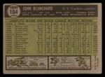1961 Topps #104   John Blanchard Back Thumbnail