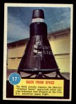 1963 Topps Astronaut Popsicle #17  Back from Space  Front Thumbnail