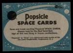 1963 Topps Astronaut Popsicle #40  Inside the test chamber  Back Thumbnail