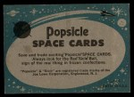 1963 Topps Astronaut Popsicle #48  Our 1st Spacemen  Back Thumbnail