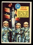 1963 Topps Astronaut Popsicle #48  Our 1st Spacemen  Front Thumbnail