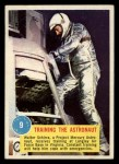 1963 Topps Astronaut Popsicle #9  Training the Astronaut  Front Thumbnail
